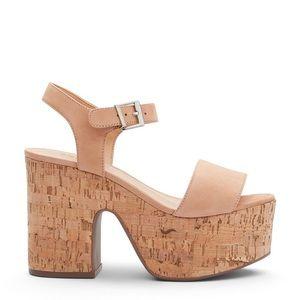 NWT Schultz Cork Platform Sandals